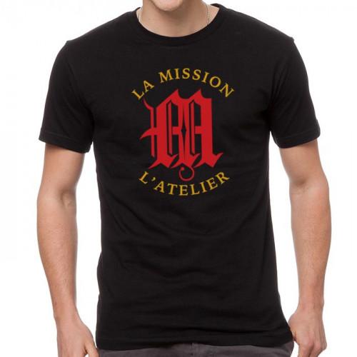 L'Atelier La Mission Logo Shirt - Black