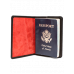 Passport Cover w/ Red Lining