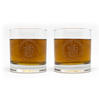 Tatuaje 15th Anniversary Whiskey Glass Pair